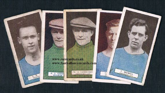 1927 Footballers Series 5x Man City Pattreiouex